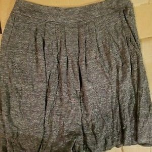 NWT Eileen Fisher pleated linen grey skirt. M